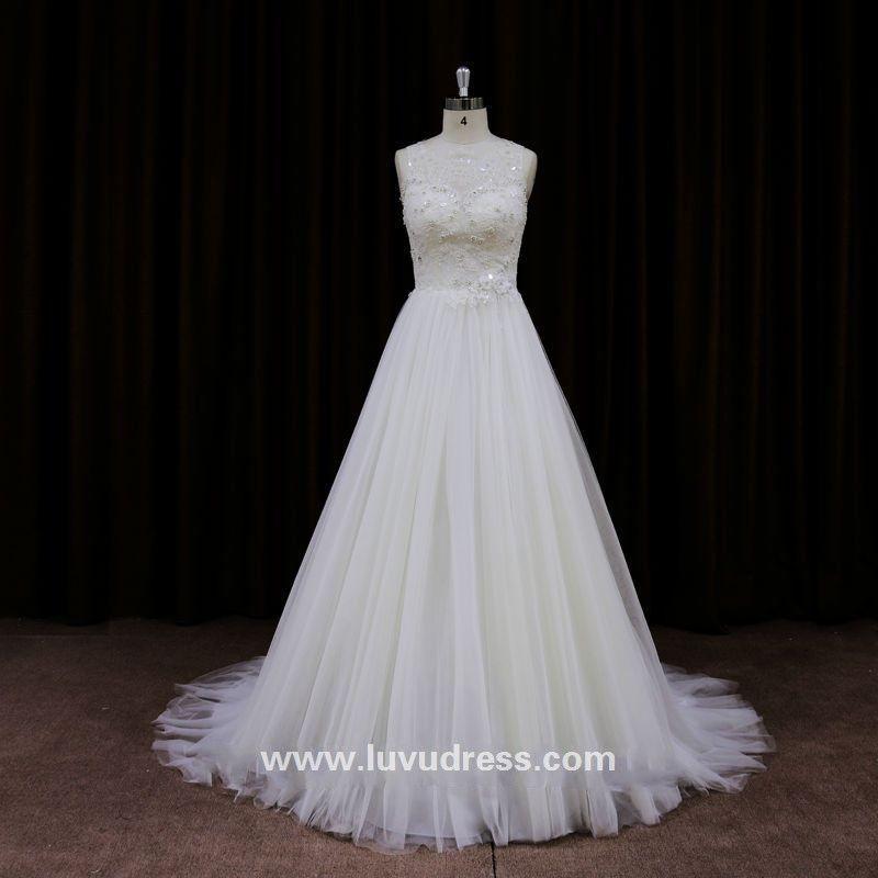 China custom made tight lacing wide shoulder strap romance wedding dress
