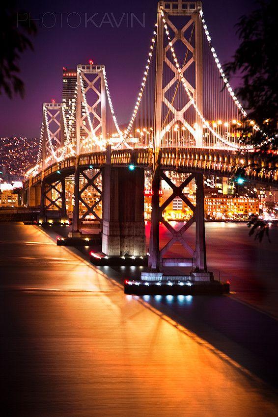 500px Foto Bay Bridge Long Exposure Por Kavin Kowsari Usa