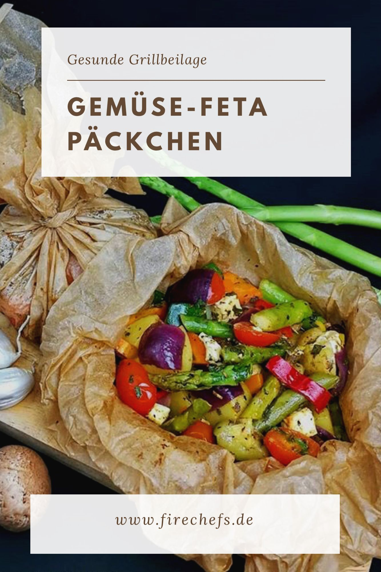 Gemüse-Feta Päckchen