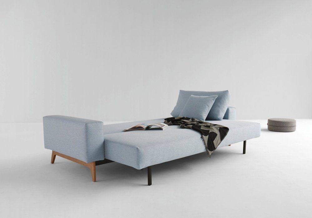 INNOVATION LIVING IDUN canapé design bleu soft icy convertible lit