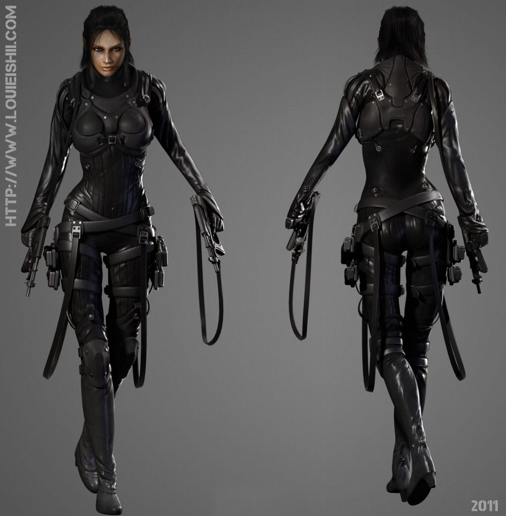 Download Badass Futuristic Female Armor Wallpapers