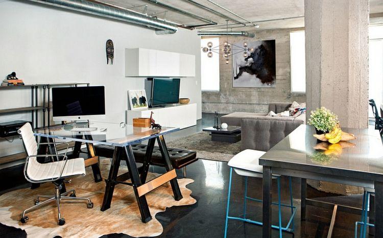 Modernes Kabinett im Industrie-Stil einrichten Bohemian Beach - home offices im industriellen stil