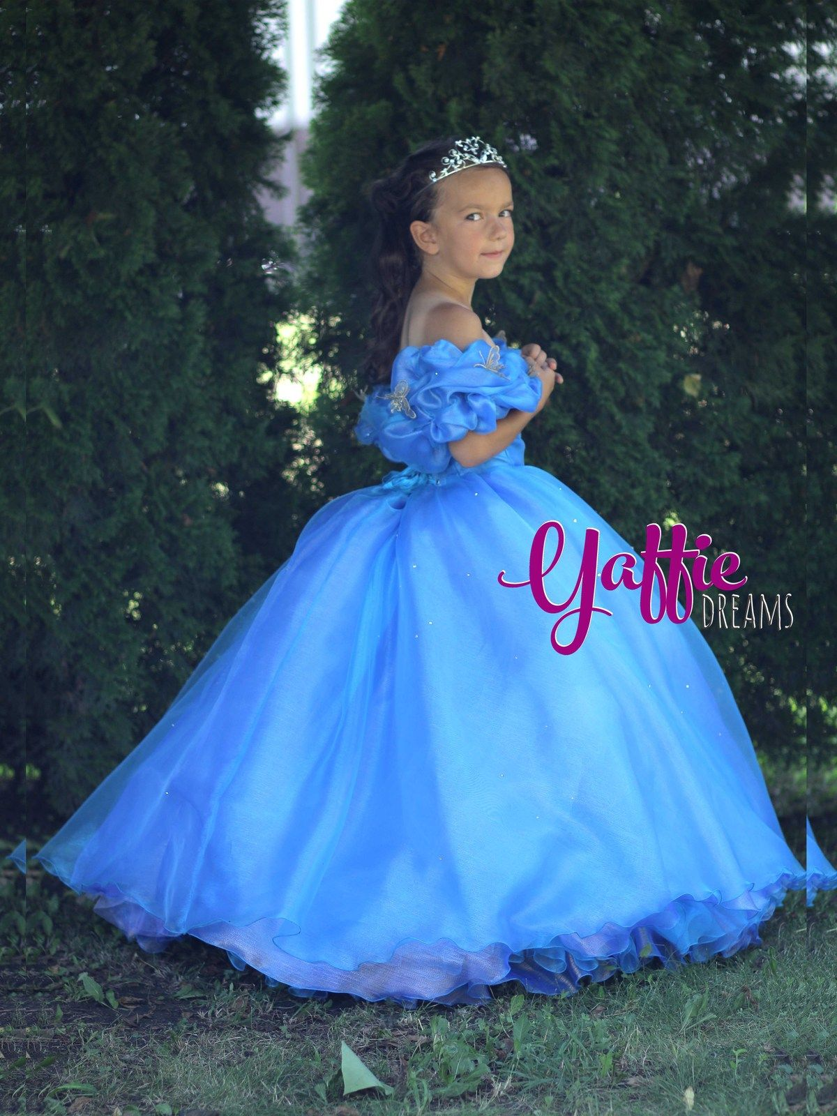 a9ff45156a11 Cinderella 2015 movie dress Disney princess ball gown Halloween costume  ideas for girl outfit birthday party gift blue butterfly design cosplay  child ...