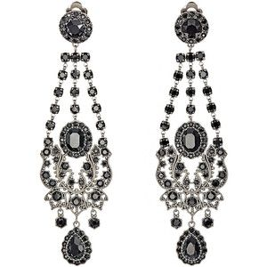 Givenchy Gothic Clip-On Chandelier Earrings
