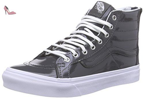Sk8-Hi Slim Zip, Sneakers Hautes Mixte Adulte, Gris (Tumble Patent/Pewter), 38 EU (5 UK)Vans