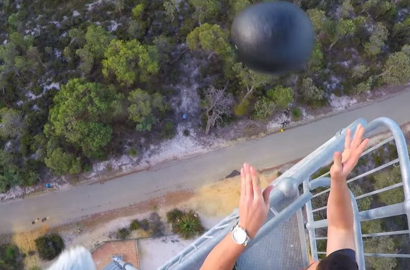 Watch this super-tough coating make a watermelon bounce from a 150-foot drop