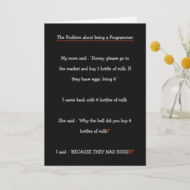 Funny IT Software Engineer Programmer Son Birthday Holiday Card Affiliate