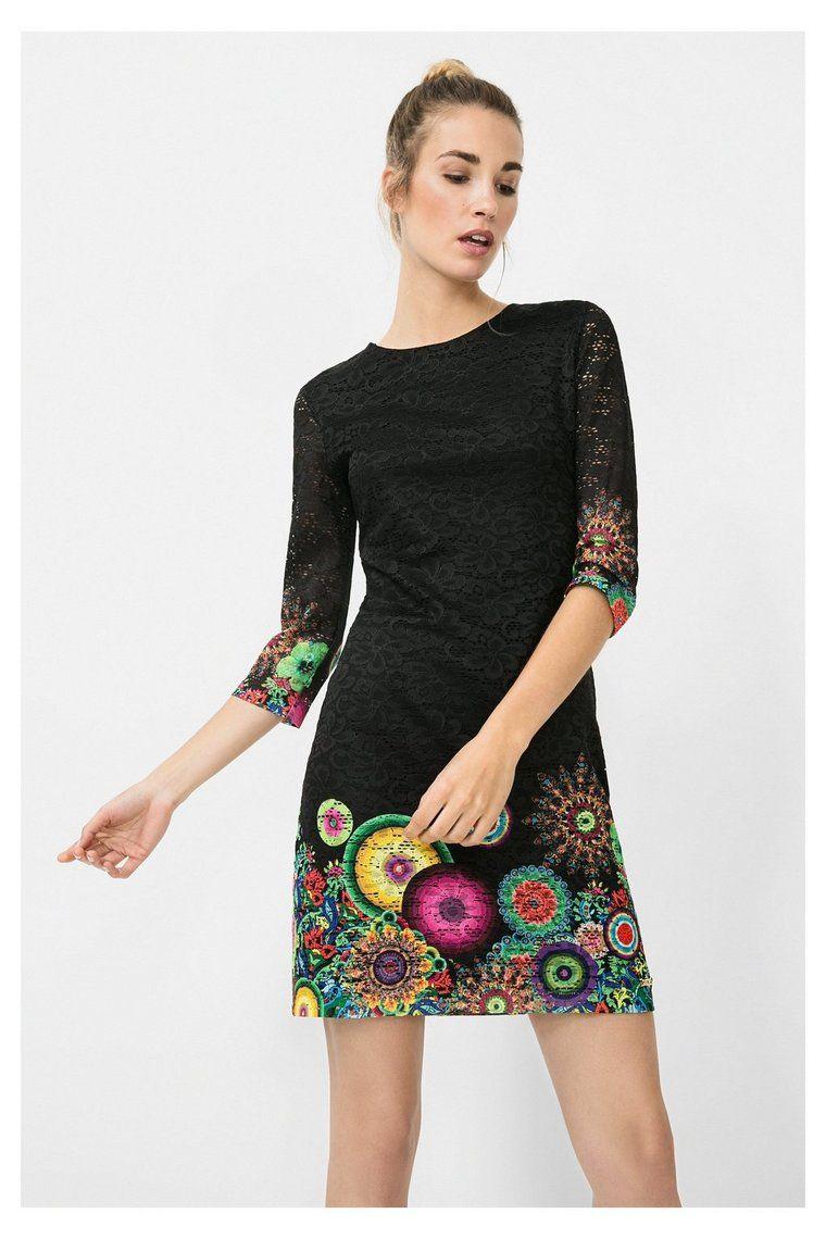 Robe noire ajourée à motif Wendoline Oregon | Pinterest | Black ...