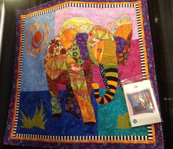 Ellie - elephant applique quilt pattern   SewArtsy   Pinterest ... : elephant applique quilt pattern - Adamdwight.com