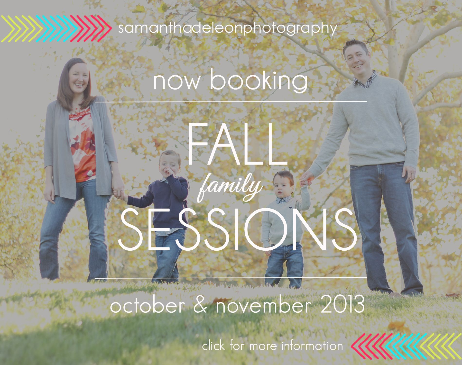 Now Booking Family Fall 2013 Sessions - Samantha DeLeon Photography, El Dorado Hills