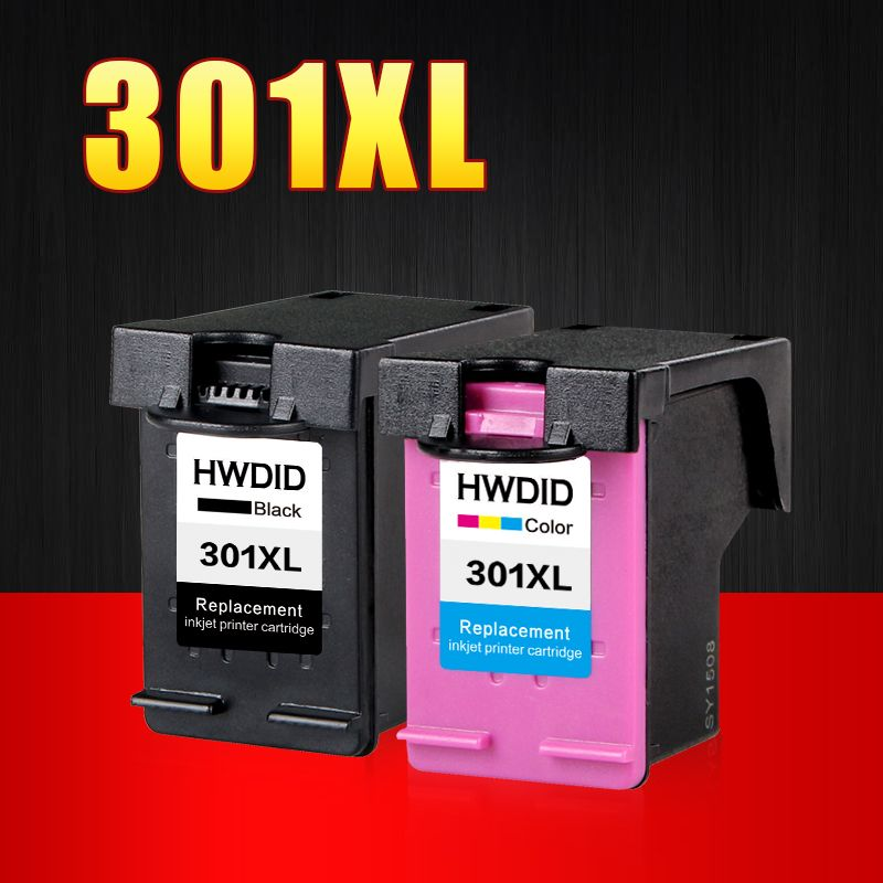 2 Pack 301XL Ink Cartridge Replacement for hp301 HP 301 xl CH563EE CH564EE for Deskjet 1000 1050 2000 2050 2510 3000 3054