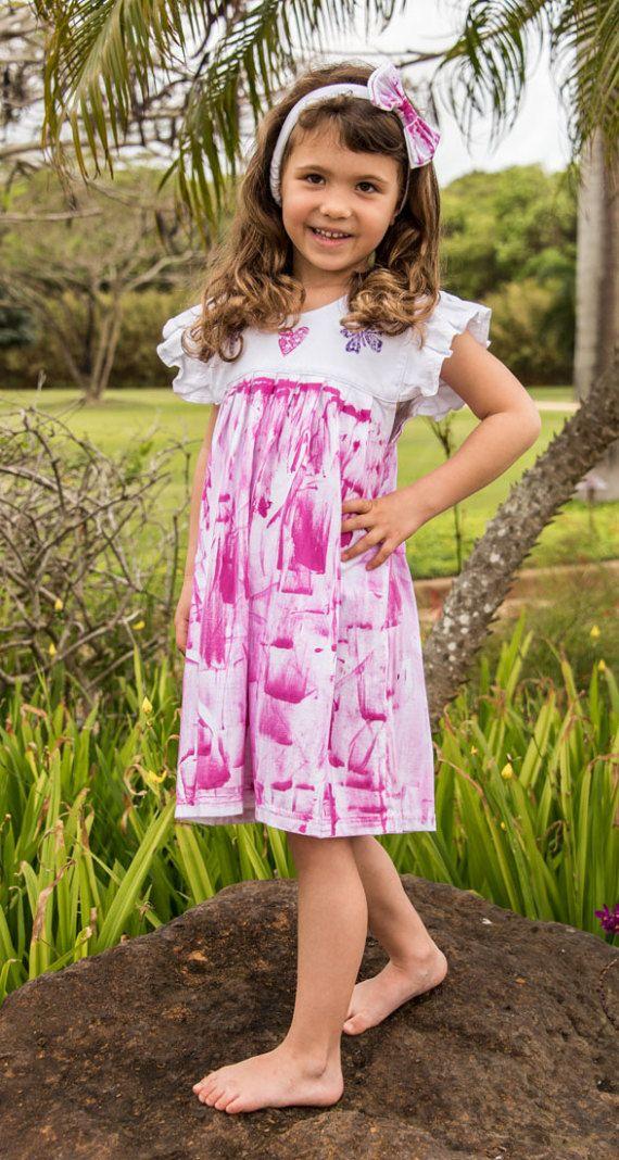 Girl Hawaiian Dress - Hawaiian Dress - Hawaiian Girl Dress - Dress ...