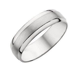Platinum Mens Matt Polished Wedding Ring Wedding and Weddings