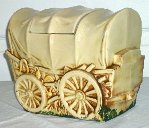 Vintage Covered Wagon Mccoy Cookie JAR Mccoy USA ART Pottery 1960 61 | eBay
