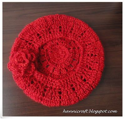 hannicraft: Simple beret crochet pattern   crochet crochet   Pinterest