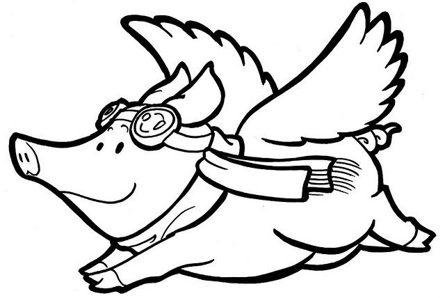 Free Flying Pig Clipart Cartoon Flying Pigs Free Cliparts That