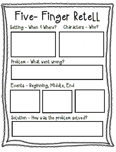 Summary Finger 5 Organizer Graphic