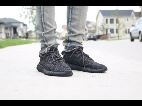 huge selection of 3f285 af51e yeezy boost 350 pirate black on feet - Google Search ...