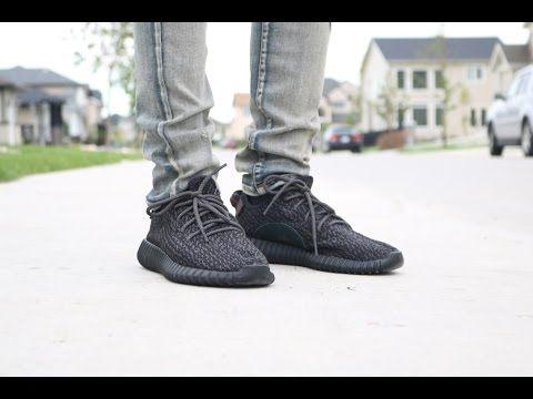 33fce700177e3 yeezy boost 350 pirate black on feet - Google Search