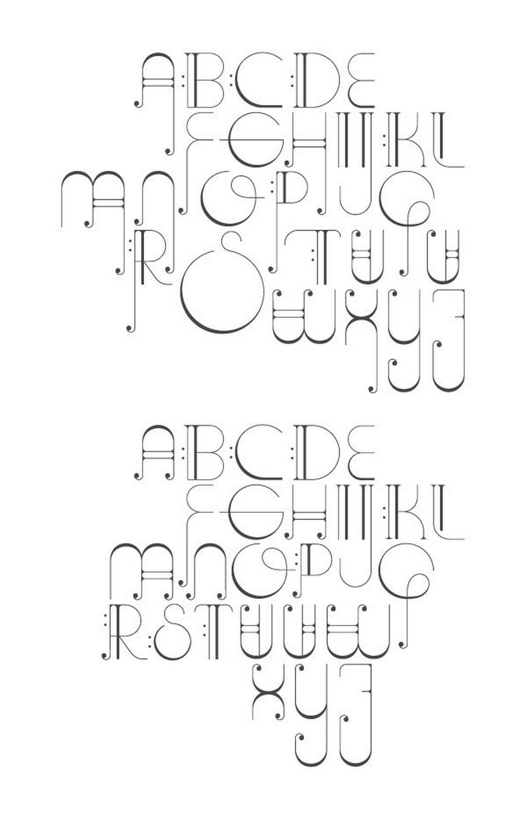90 Beautiful Typography Alphabet Designs (Part 1) https