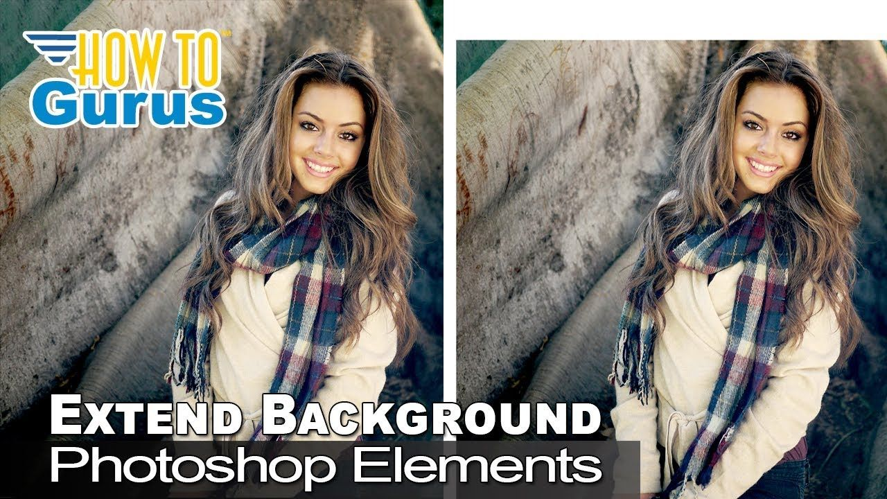 How to extend or stretch the background of a photo in