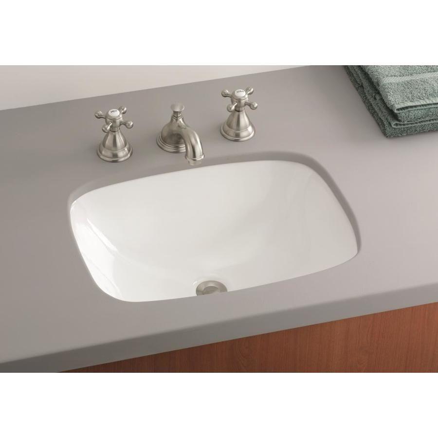 Cheviot Ibiza White Undermount Rectangular Bathroom Sink 17 5 In X 12 875 In Lowes Com Rectangular Sink Bathroom Bathroom Sink Vintage Tub Bath