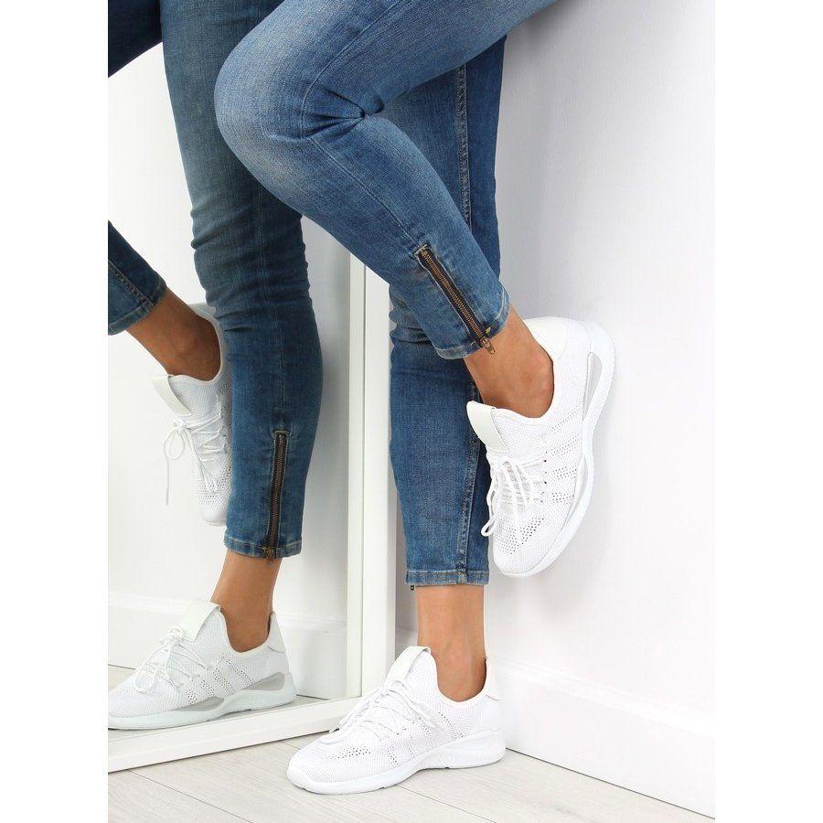 Buty Sportowe Biale Bk367 White White Sneakers Women Womens Sneakers Sport Shoes Women