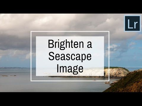 Brighten a Seascape Image in Lightroom - Lightroom Quick Landscape Edit