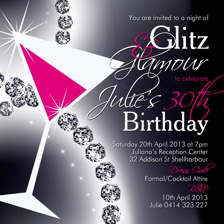 Glitz & Glam!! | 21st Ideas | Pinterest | 40 birthday, 40th ...