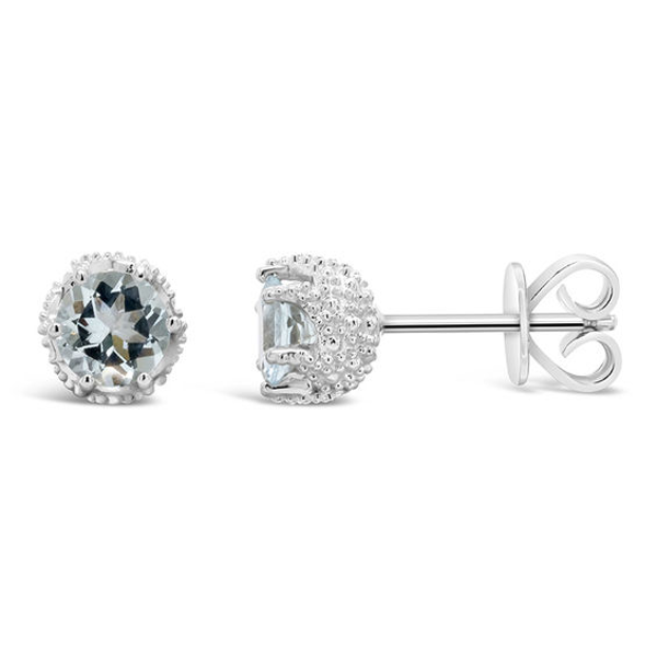 4890daa68 5.0mm Aquamarine Stud Earrings in Sterling Silver in 2019 | Products ...