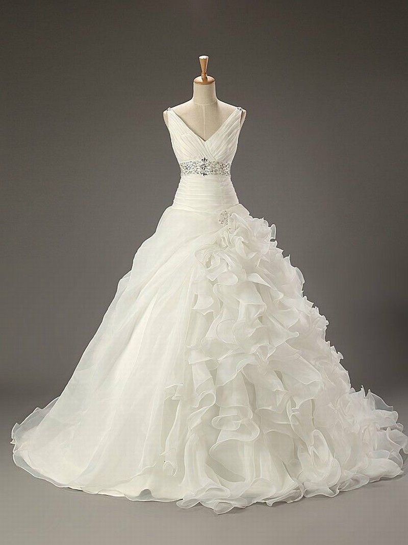 HS57 New White/Ivory hot sale Bridal Gown charming Wedding Dress ...