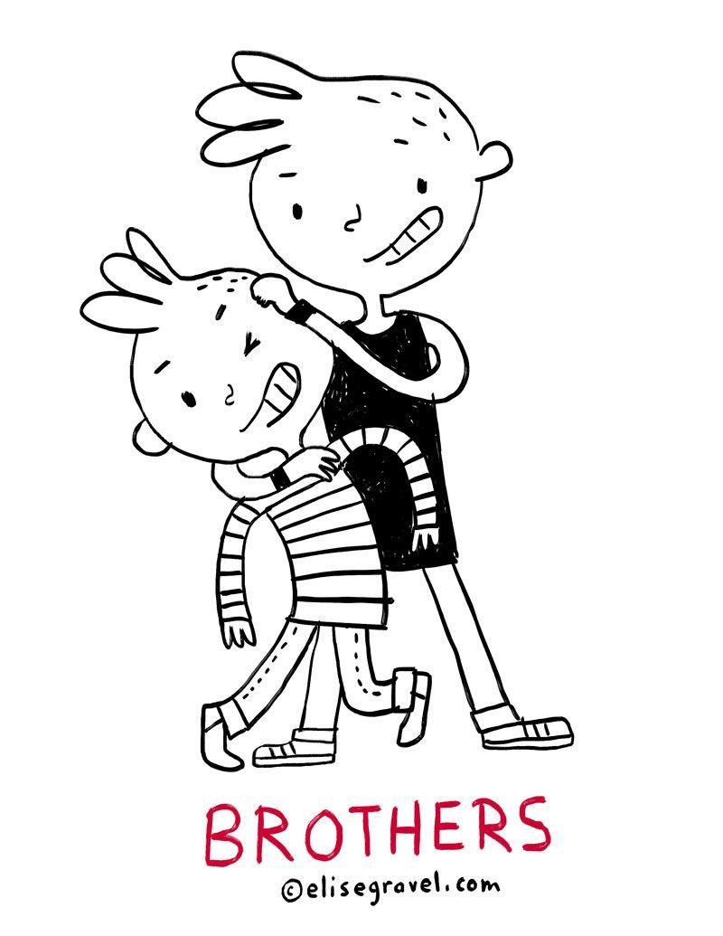 Elise Gravel illustration • brothers • boys • kids • love ...
