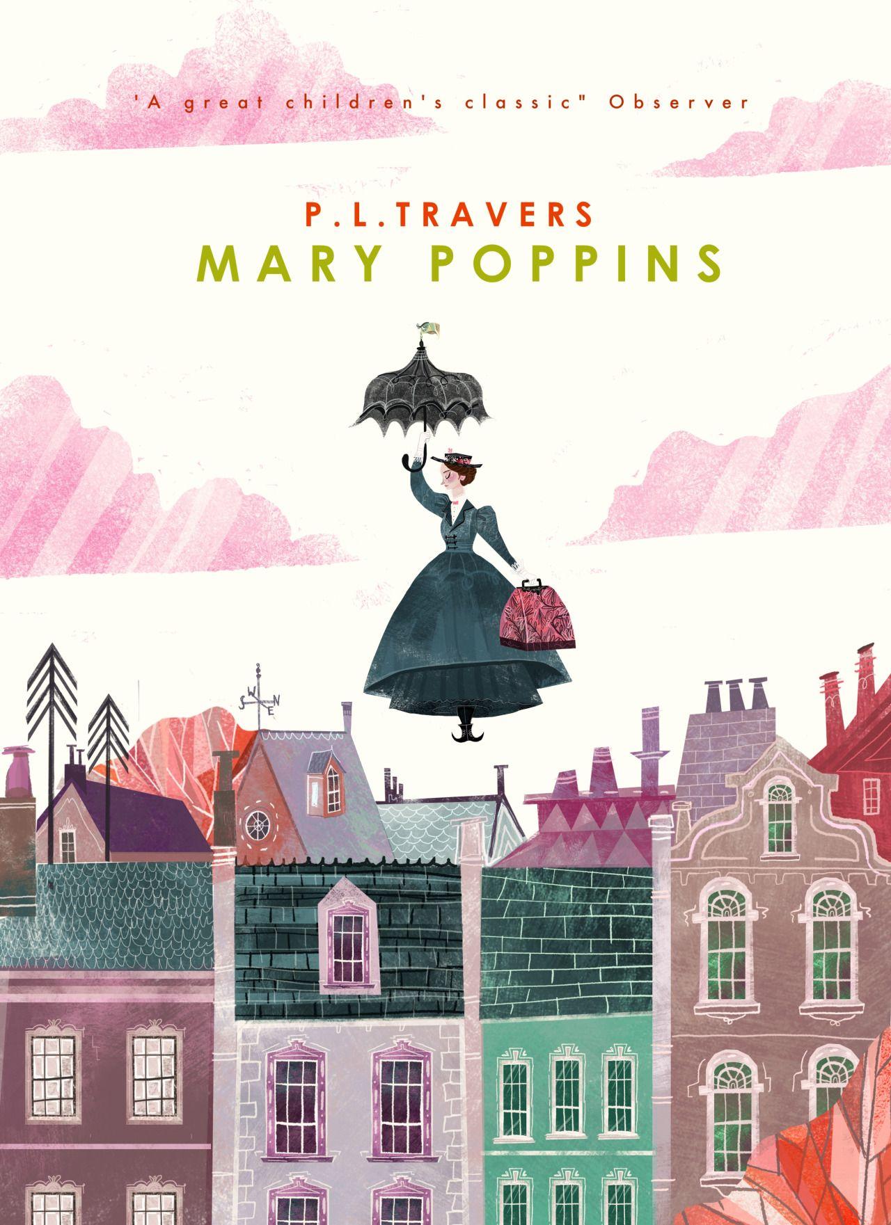 karljamesmountford: Mary Poppins book cover design By Karl James Mountford