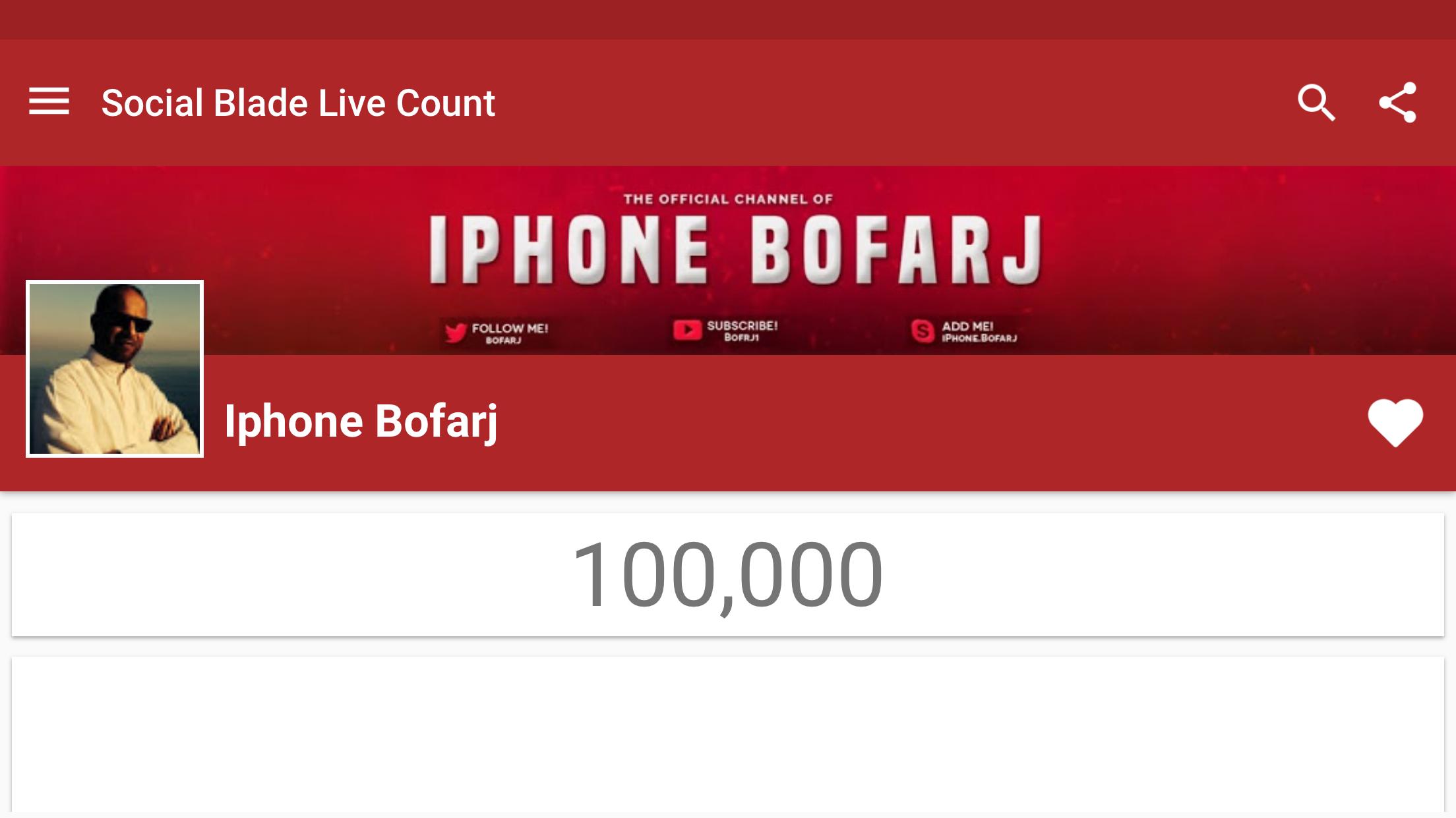 معلومات عن الاإعلان قناة يوتيوب توفر لك برامج و العاب ايفون مجانا اشترك الان ابحث في اليوتيوب عن Iphone Bofarj Live Count Channel