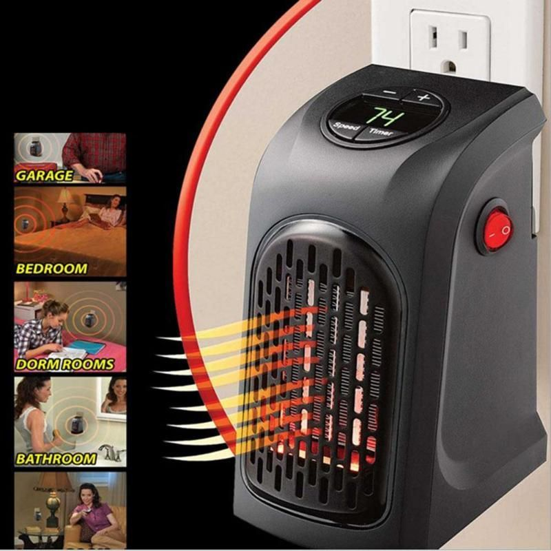400W Plug-in Mini Heater Buy this someday Pinterest Portable