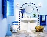Greek Blue and White Bathroom Sink