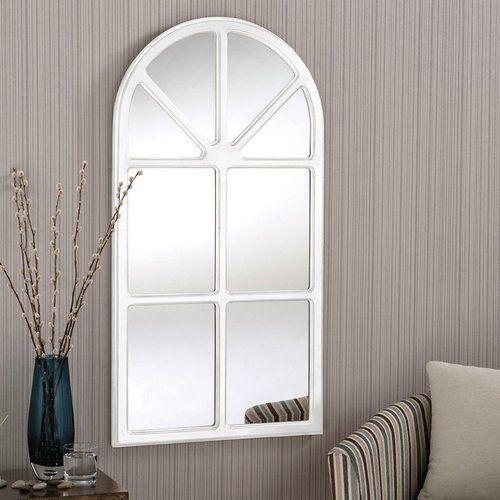 August Grove Blythen Accent Mirror Window Mirror White Wall Mirrors Mirror