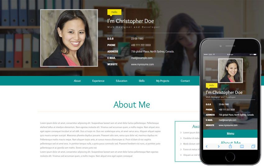 Resume Website Template Image Result For Web Layout  Personal Website Ideas  Pinterest