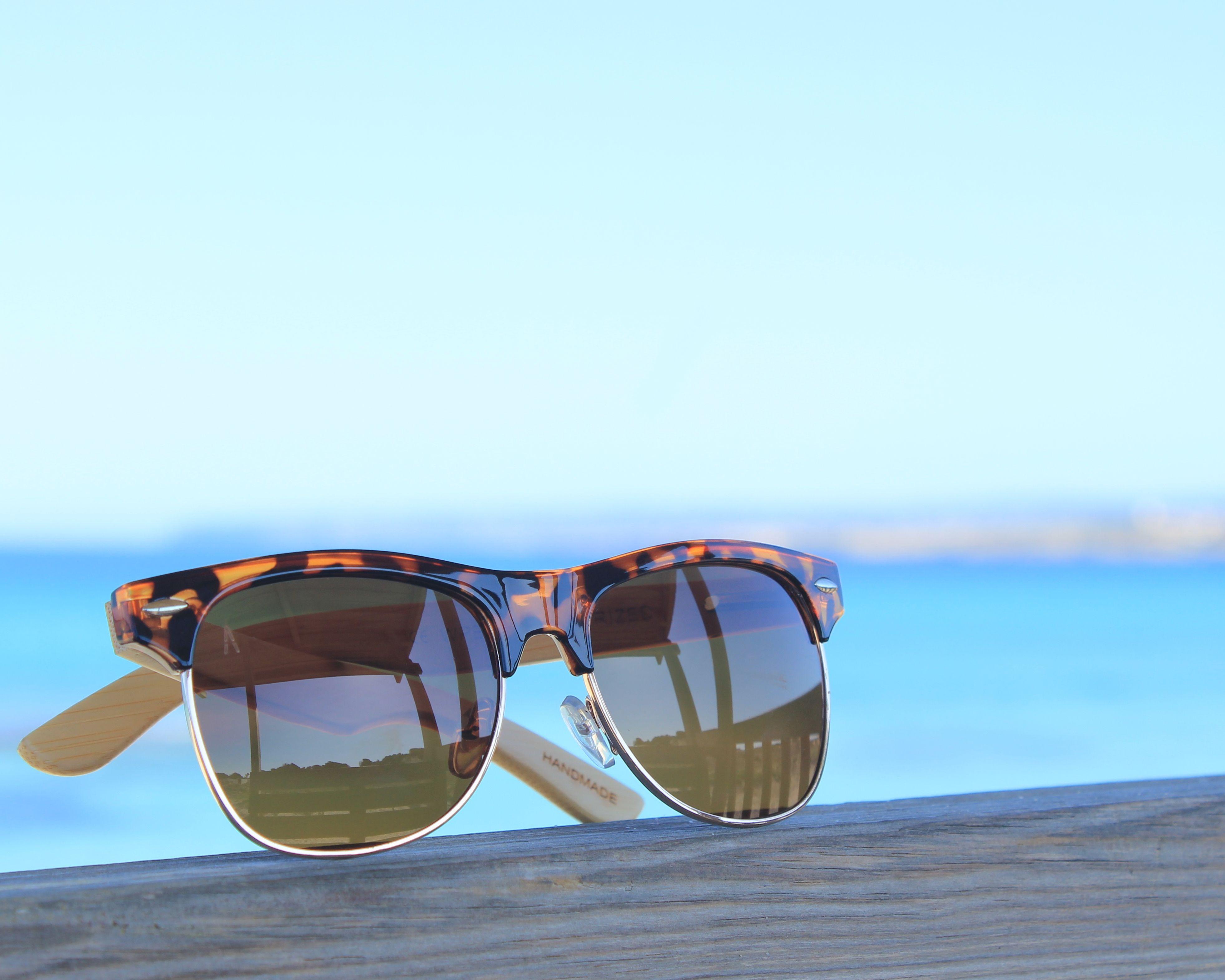 Hindi - Gafas de sol unisex, con montura mixta de frontal en acetato ...
