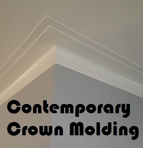 Art Deco Crown Molding For A Contemporary Looking House Crown Molding Modern Moldings And Trim Modern Farmhouse Interiors