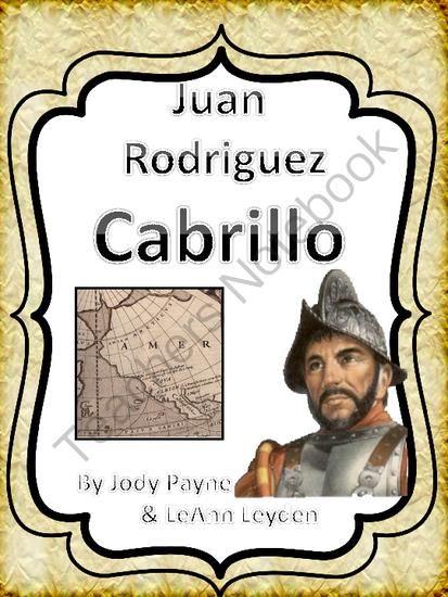 Juan Rodriguez Cabrillo from ThankATeacher on TeachersNotebook.com ...