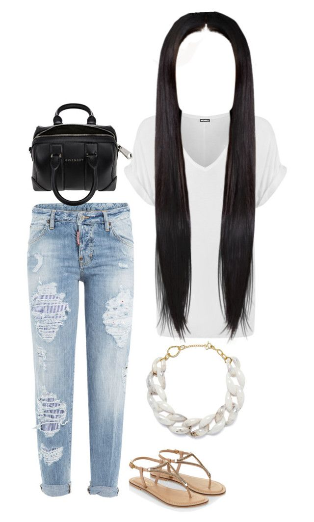 """Untitled #361"" by mina-smith1 on Polyvore featuring Dsquared2, Accessorize, WearAll, DIANA BROUSSARD and Givenchy"