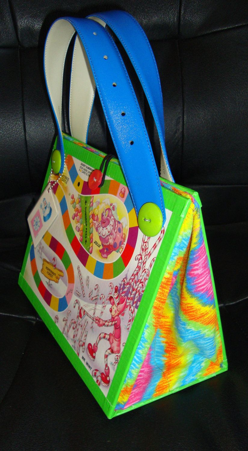 Upcycled Candy Land Board Game Purse Novelty Gift made