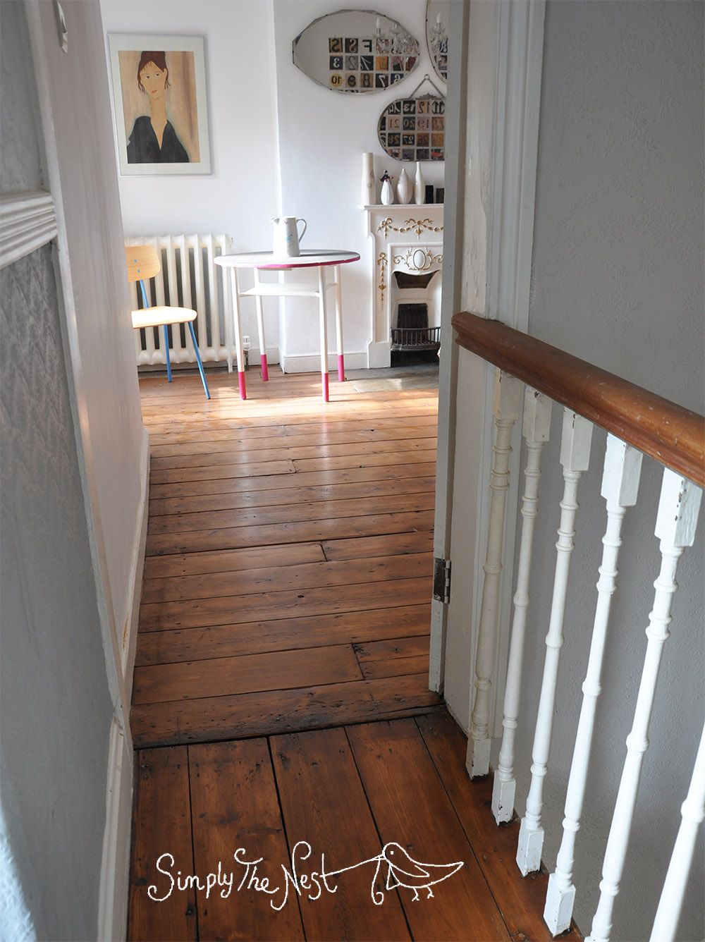 Victorian Wooden Plank Floor Finished With Osmo Polyx Oil