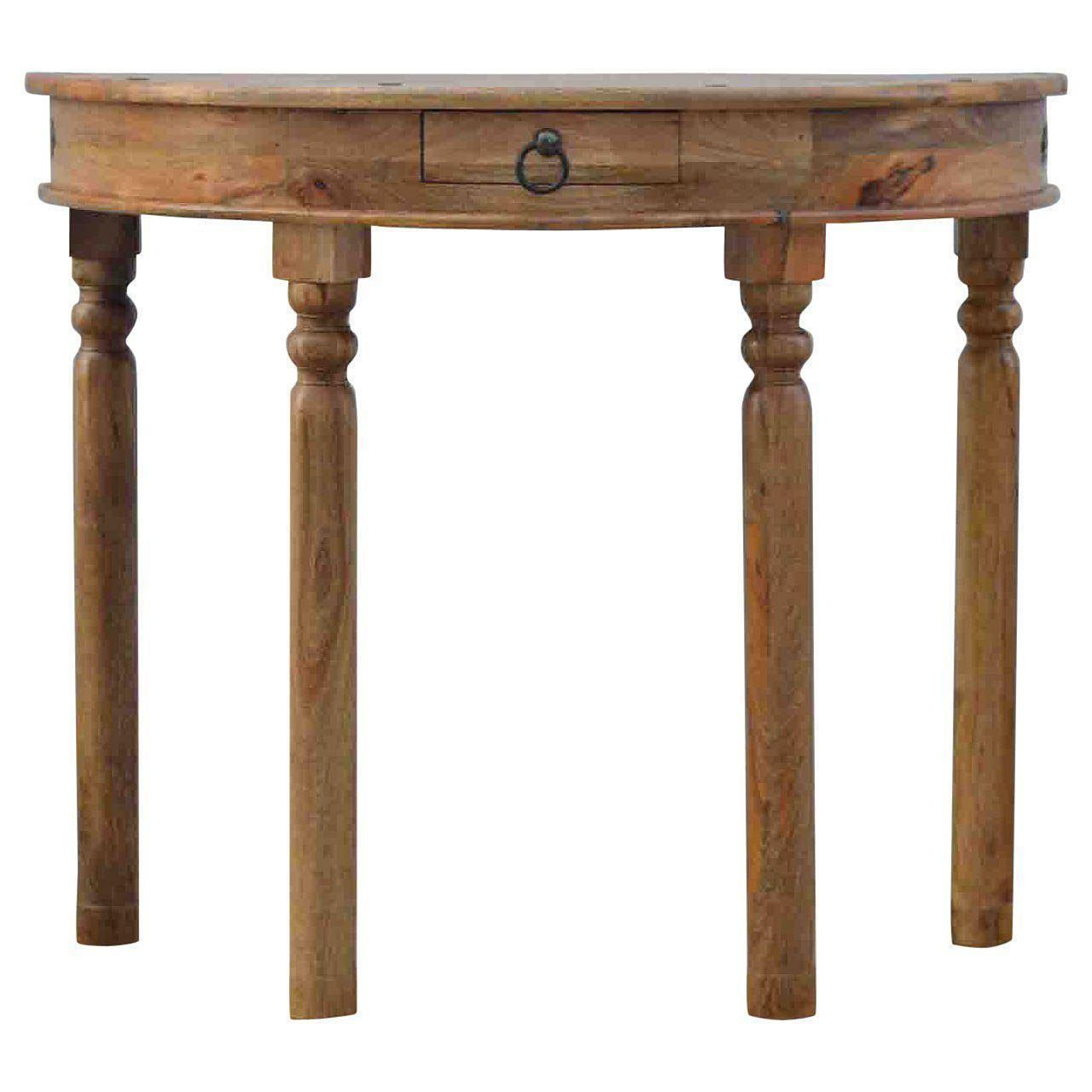 Solid Mango Wood Console Table Canning Interiors Small Hallway Table Wood Console Table Artisan Furniture