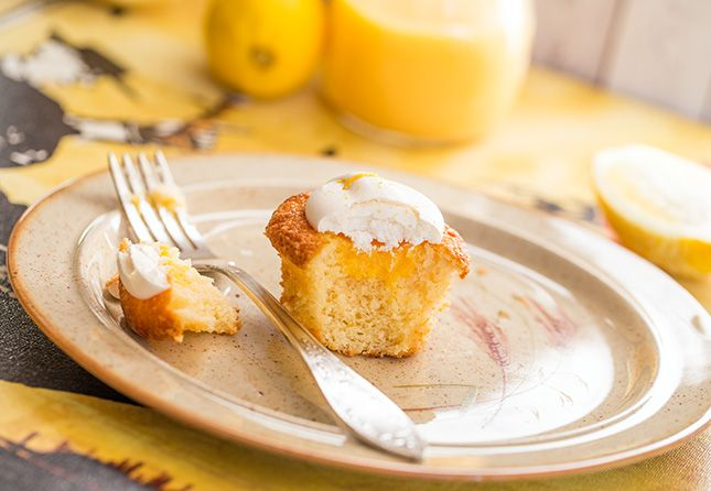 Лимонные капкейки