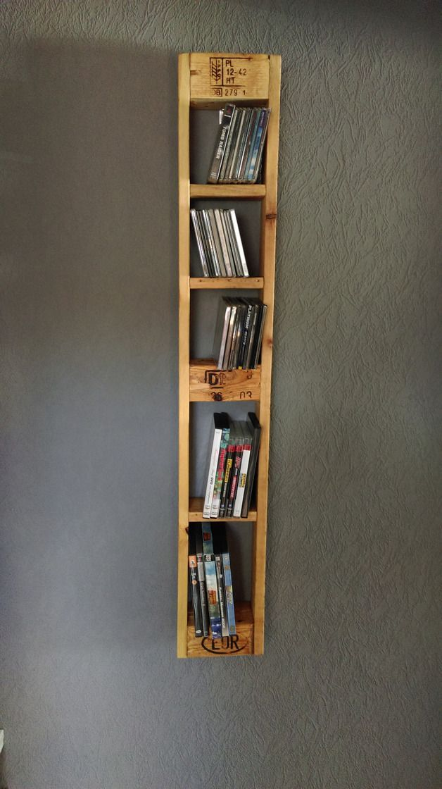 Superior CD Regal Aus Paletten, Vintage Stil / Cd And Cvd Rack Made Of Pallets,  Upcyclingu2026