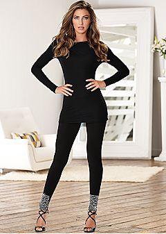 Women's Leggings - Basic, Detailed, and Faux Leather Leggings