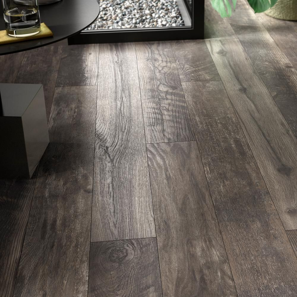Home Decorators Collection Taupe Wood Fusion 12 Mm Thick X 6 1 8 In Wide X 50 4 5 In Length Laminate Flooring 17 Flooring House Flooring Vinyl Wood Flooring