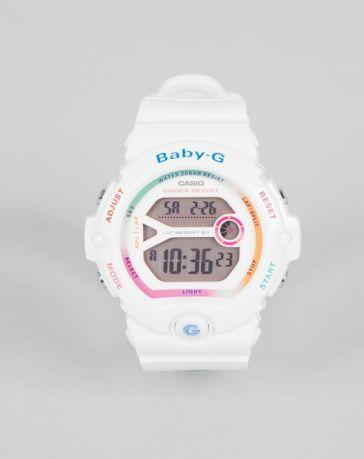 1d7a8f54666a Casio Baby G White Rainbow Digital Watch | Baby-G in 2019 | Watches ...